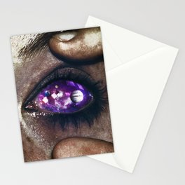 Ojos color galaxia Stationery Cards