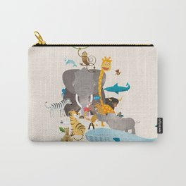 Kids Room Animals – Illustration for the sleeping room of girls and boys Carry-All Pouch