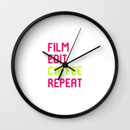 Film Edit Coffee Film School Quote Wall Clock