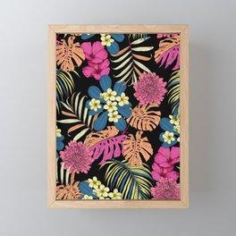 Tropical Floral Framed Mini Art Print