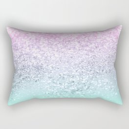 Mermaid Girls Glitter #1 (2019 Pastel Version) #shiny #decor #art #society6 Rectangular Pillow