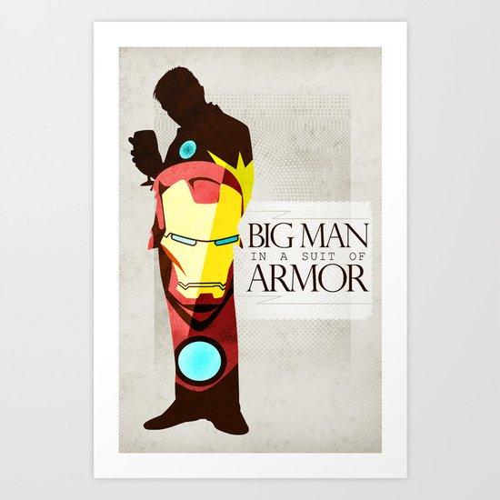 Suit of Armor : Iron Man Art Print