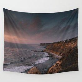 California Coast Sunset Wall Tapestry