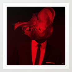 red 2 · the truth is dead Art Print