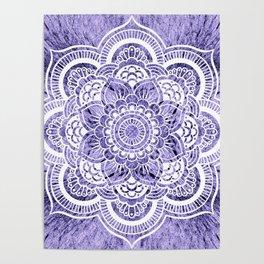 Mandala Lavender Colorburst Poster
