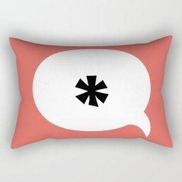 Asterisk C Rectangular Pillow