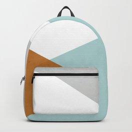 Geometrics - aqua & orange concrete Backpack