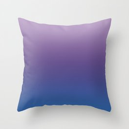Ultra Violet Blue Lilac Ombre Gradient Pattern Throw Pillow