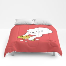Gingerbread Gets It - Great Pyrenees Humor Comforters