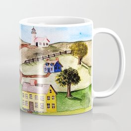 Colonial Coastal Village Coffee Mug