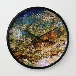 peninsula blue, monterey Wall Clock