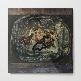 Women dancing in the dark - surrealism pop art - Jéanpaul Ferro Metal Print