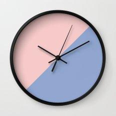 Pantone Rose Quartz and Serenity Wall Clock