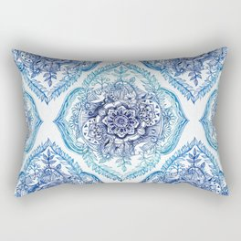 Indian Ink - in Blues Rectangular Pillow