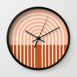 Terracota Pastel Wall Clock
