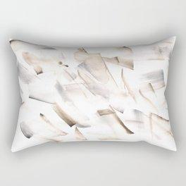 180630 Grey Black Neutral Brown Abstract Watercolour 18  Watercolor Brush Strokes Rectangular Pillow