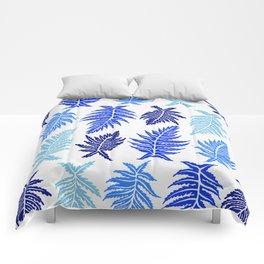 Inked Ferns – Blue Palette Comforters