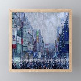 The Downpour Framed Mini Art Print