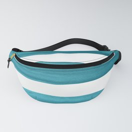 Watercolor Brushstrokes - Teal Fanny Pack