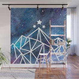 Watercolor galaxy Night Court - ACOTAR inspired Wall Mural