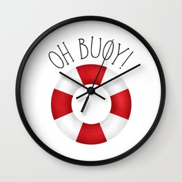 Oh Buoy! Wall Clock