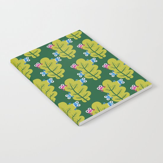 Bugs Eat Green Leaf Notebook