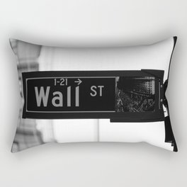 Wall St. Minimal - NYC Rectangular Pillow