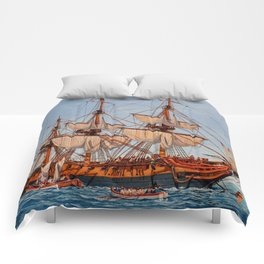 Revolutionary Painting of the Frigate Confederacy Comforters