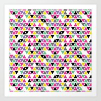 Pop Triangles Art Print