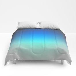 Blue to Aqua Gradient Focus Comforters