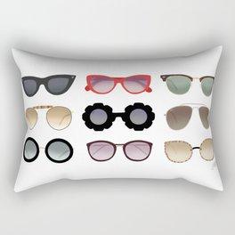 Ray Bans Sunglasses Illustration Rectangular Pillow