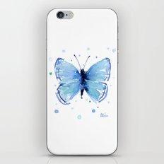 Blue Butterfly Watercolor Butterflies Animals iPhone & iPod Skin