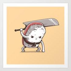 Samurai sushi - Tuna Art Print