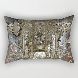 Steampunk Space Transport Rectangular Pillow