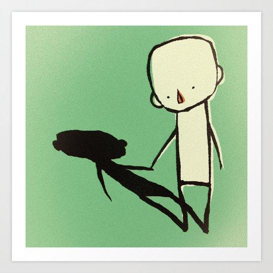 shadowfriend Art Print