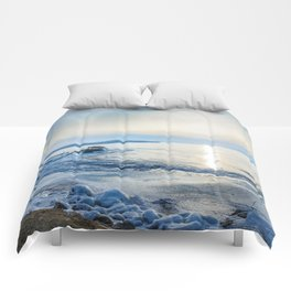 Frozen wharf and Halo Comforters
