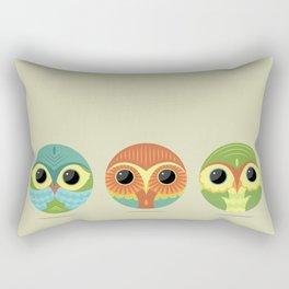 Tres Owls  Rectangular Pillow