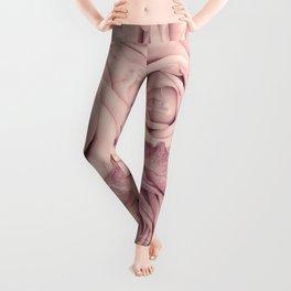 Some People Grumble - Pink Rose Pattern - Roses Garden Leggings
