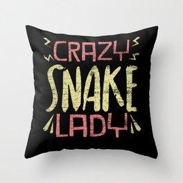 Snake Lady Throw Pillow