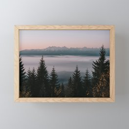 Faraway Mountains - Landscape and Nature Photography Framed Mini Art Print