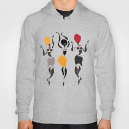 Abstract African dancers silhouette. Figures of african women. Hoody