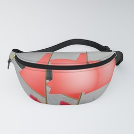 May Flying to the Museum - shoes stories Fanny Pack