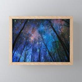 Black Trees Dark Blue Space Framed Mini Art Print