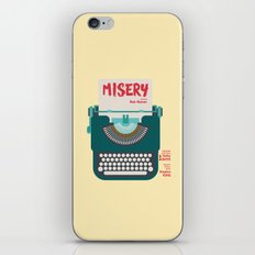 Misery, Horror, Movie Illustration, Stephen King, Kathy Bates, Rob Reiner, Classic book, cover iPhone & iPod Skin