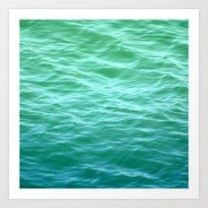 Teal Sea Art Print