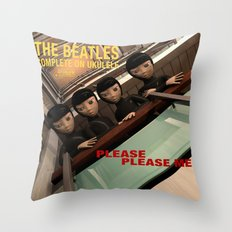 Please Please Me Throw Pillow