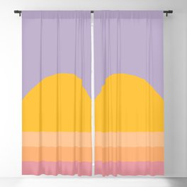 Psychedelic Retro Sunset Blackout Curtain