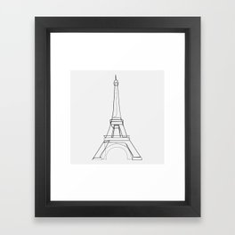 """""""Travel Collection"""" - One Line Eiffel Tower Framed Art Print"""