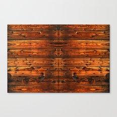 Distressed Wood Plank Texture Canvas Print