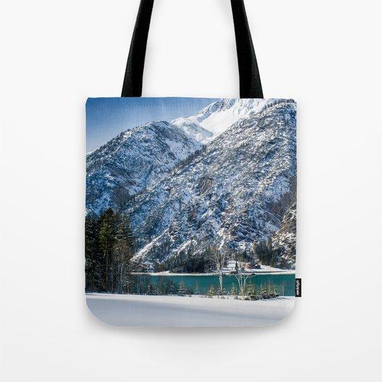 Achensee Winter Landscape Tote Bag